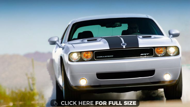 Challenger Car With Lights on