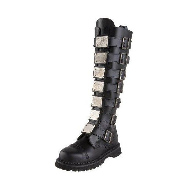 Pleaser Men's Reaper-30 Buckle Boot | Cheap Gothic Clothing | Cheap... ❤ liked on Polyvore featuring men's fashion, men's shoes, men's boots, mens gothic shoes, mens goth boots, mens gothic boots, mens boots and mens shoes