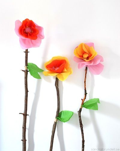 Sandra Brundell giant paper flowers with stick stems