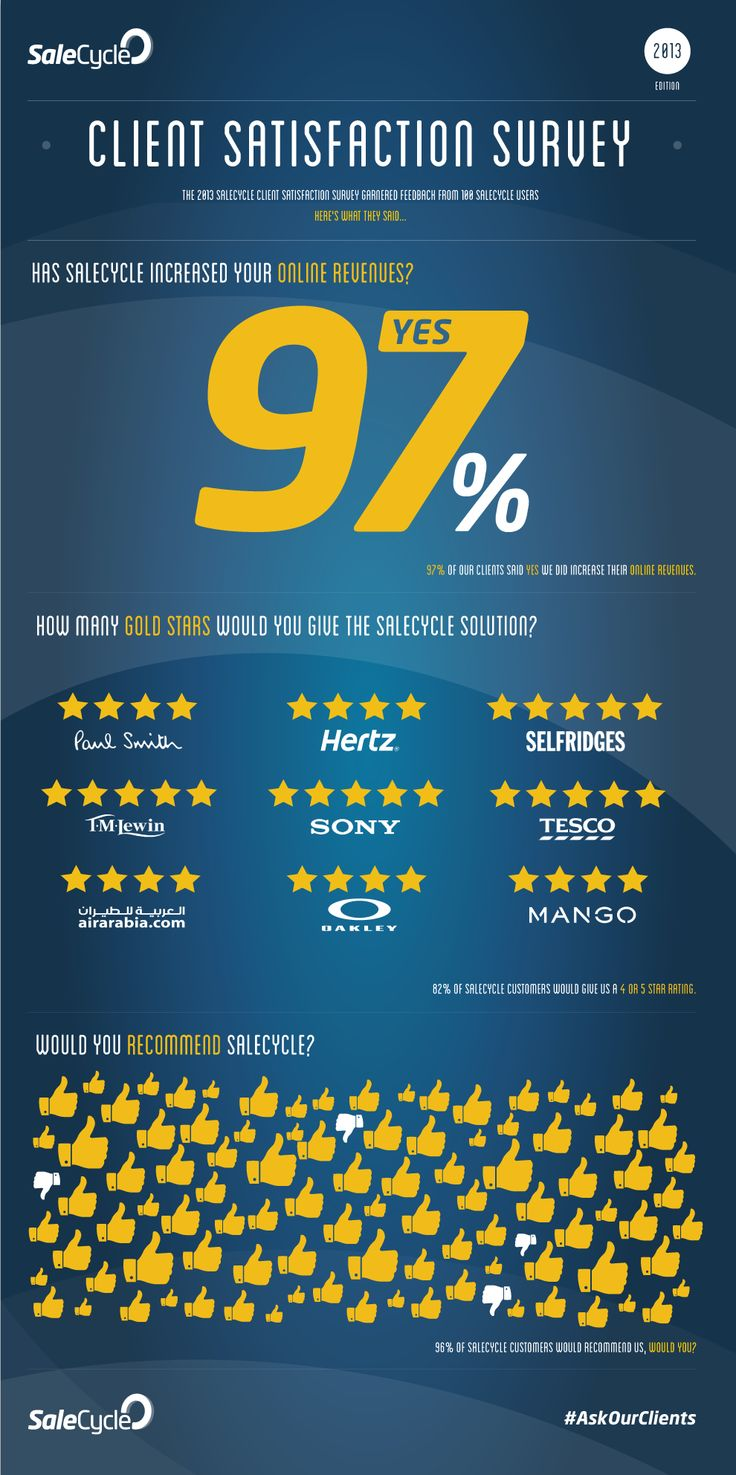 Infographic: The 2013 Client Satisfaction Survey Results