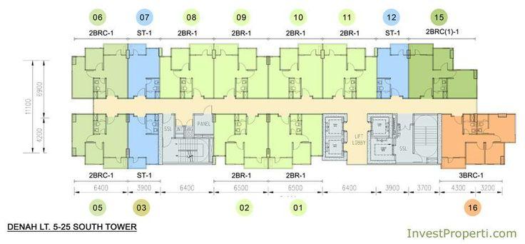 Floor Plan South Tower Skyline Residence