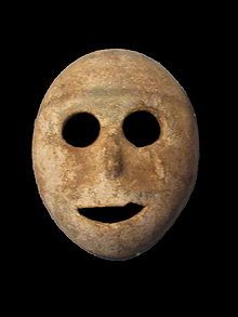 Stone mask from the pre-ceramic neolithic period dates to 7000 BCE, Musée de la Bible et de la Terre Sainte: Oldest Masks, Preceram Neolith, Stones Masks, 7000 Bc, Neolith Periodic, 9000 Years, The World, Smiley Faces, Pre Ceramics Neolith
