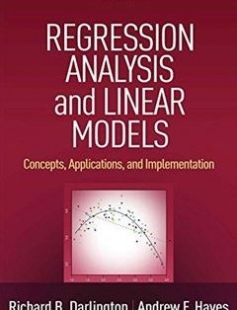 Regression Analysis and Linear Models: Concepts Applications and Implementation free download by Richard B. Darlington Andrew F. Hayes ISBN: 9781462521135 with BooksBob. Fast and free eBooks download.  The post Regression Analysis and Linear Models: Concepts Applications and Implementation Free Download appeared first on Booksbob.com.