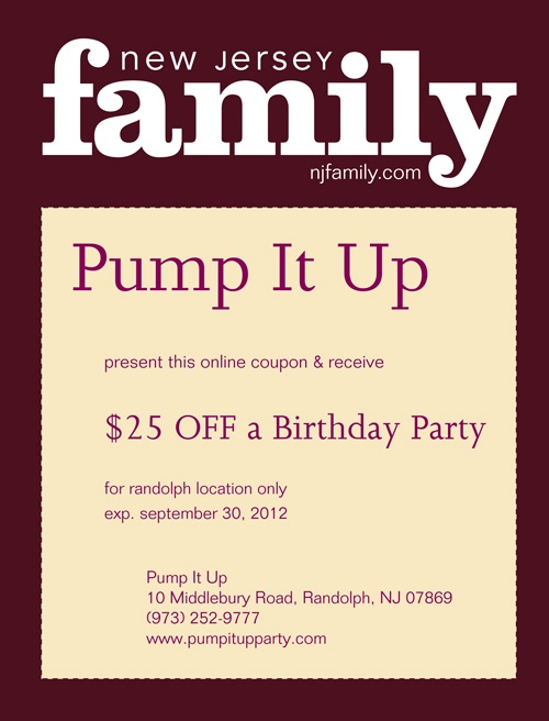Pump it up party coupons discounts