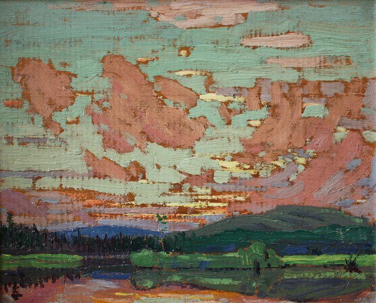 Tom Thomson Catalogue Raisonné | Sunset, Spring 1916 (1916.63) | Catalogue entry