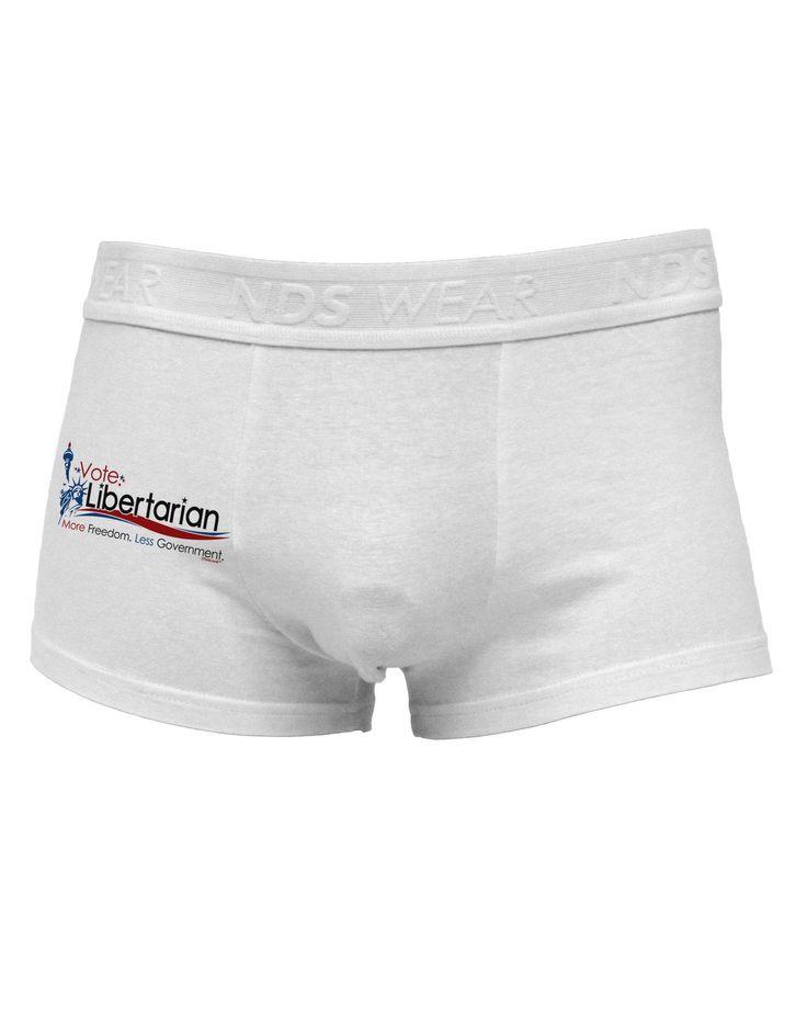 Libertarian Slogan Side Printed Mens Trunk Underwear