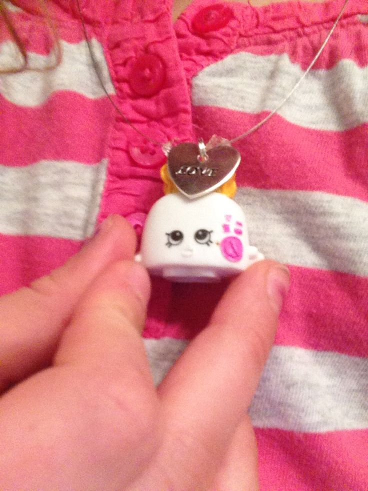 We made cute necklaces with my Friend she got the toast and I got this one