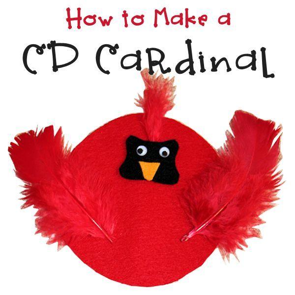 How to Make a Cardinal CD Craft