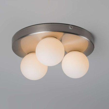 Badezimmer Deckenleuchte Bossini 3 stahl #Deckenlampe #Lampe #Innenbeleuchtung
