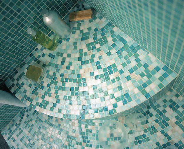Pâtes de verre vert d'eau Jade Opiocolor | Concept Mosaïque