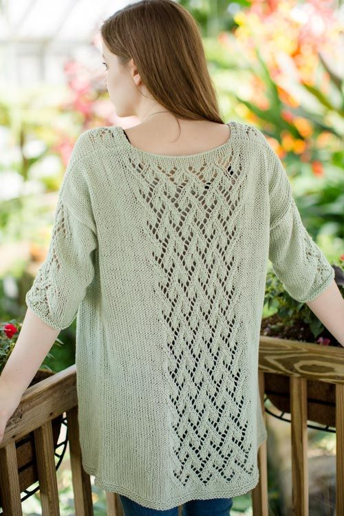 DIY Knitted Lace Cardigan - Ivy Cardigan - FREE pattern by The Blue Mouse on THNLife blog