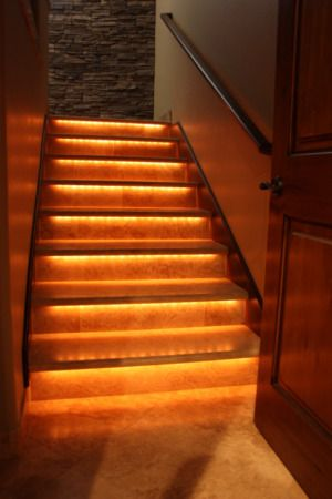 Attractive Iu0027m Going To Have Stair Lighting Like This In My House.