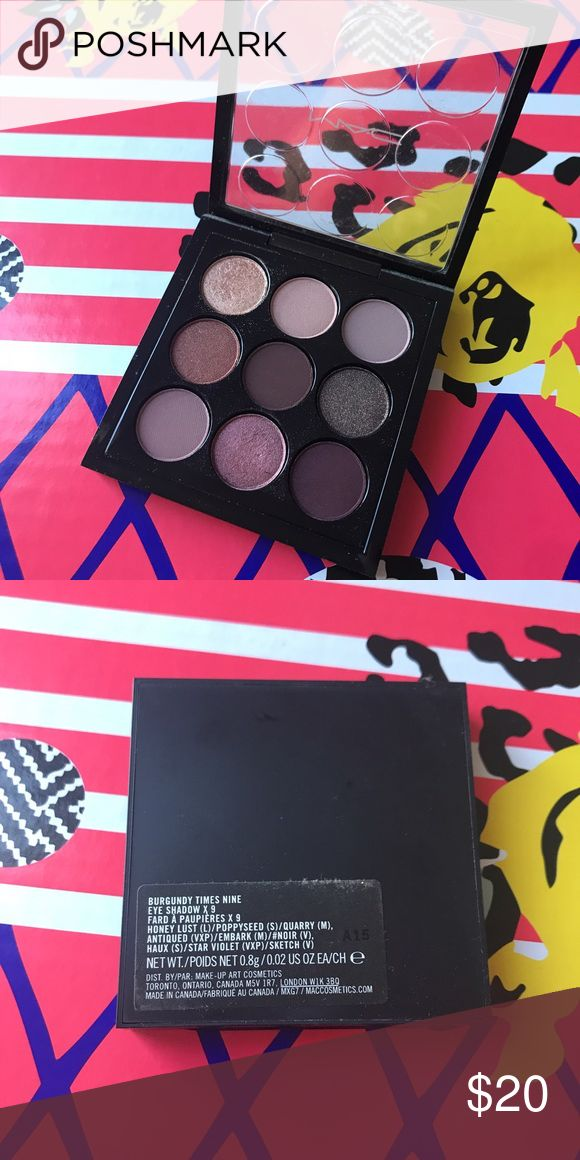 MAC Burgundy x9 Palette Brand new without box. Great size for traveling. MAC Cosmetics Makeup Eyeshadow