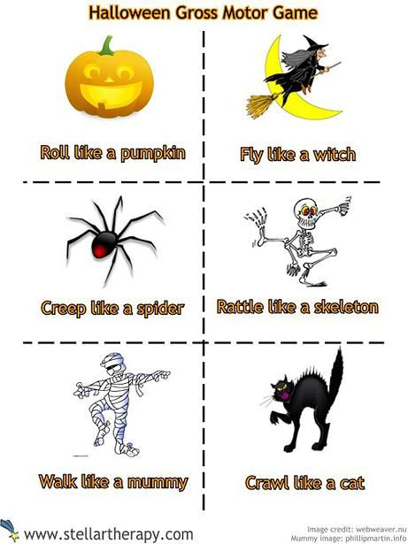 Stellar Therapy Halloween Fine Motor Matching game printable! Celebrate Physical Therapy month in festive fashion.