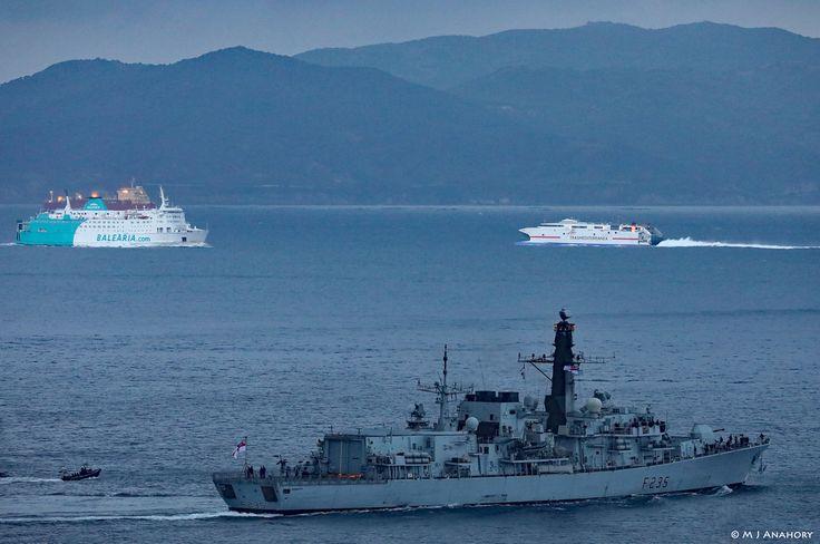 Royal Navy Type 23 Frigate HMS Monmouth (F235) departing HM Naval Base Gibraltar http://www.veeseire.ee/pildialbum