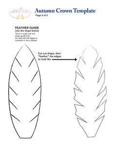 Felt feather template for our fantastic eeBoo fall crown! DIY template! eeboo-craft-project-oct13-auutmncrown2.jpg (2550×3300)
