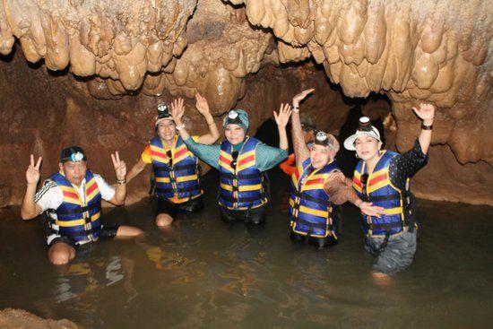 Sriti Cave, walk swim walk, sounds fun