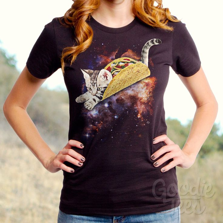 Taco Cat (GT5276-502BLK) Women's T-shirt. Taco, cats, cat lover, foodie, taco lover, women's t-shirt, space, mexican food, women's cat tees. by GoodieTees on Etsy https://www.etsy.com/listing/229780892/taco-cat-gt5276-502blk-womens-t-shirt