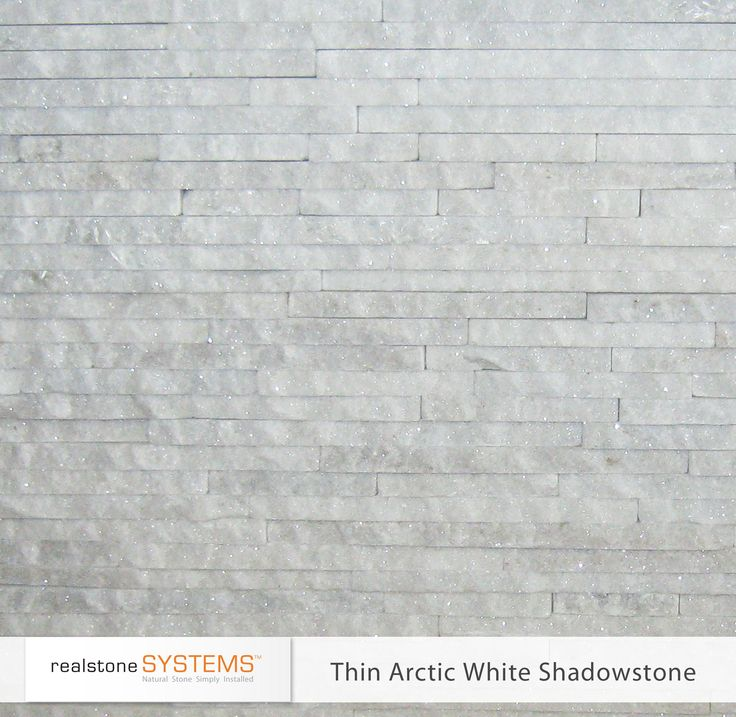 Thin Arctic White Shadowstone Thinstone Veneers From