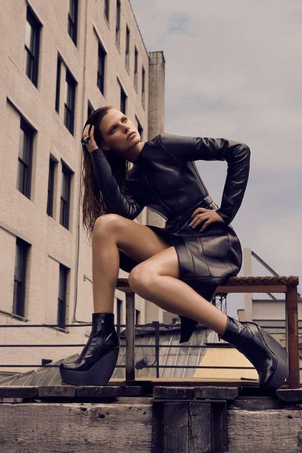 Industrial Rooftop Editorials - The Fashion Magazine 'Skin Test' Editorial is Toughly Chic (GALLERY)