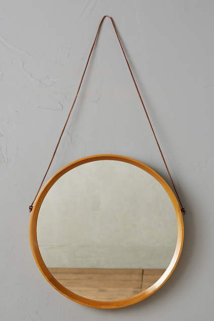 Polished Wood Mirror - anthropologie.com