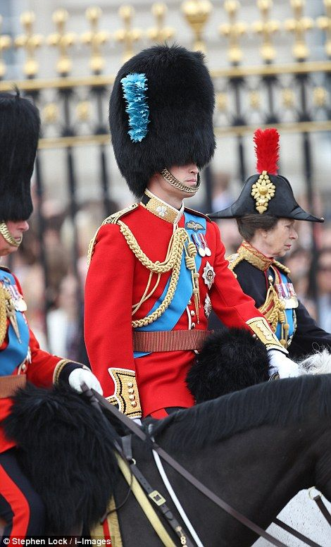 dailymail:  : Trooping the Colour 2016, June 11, 2016-Prince of Wales, Royal Colonel of the Welsh Guards, Duke of Cambridge, Royal Colonel of the Irish Guards, and Princess Royal, Royal Colonel of the Blues and Royals