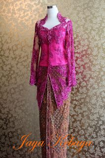 Simple and beautiful kebaya modern dress pink color