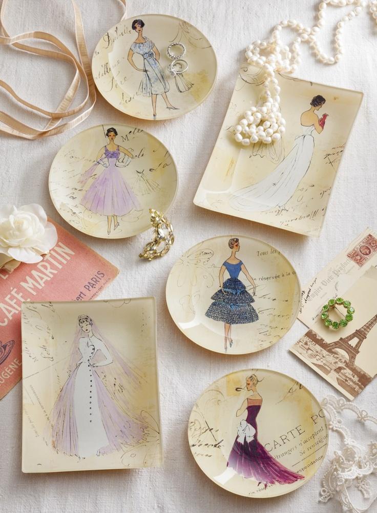 French Ladies fashion illustrations