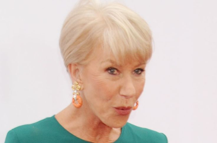 Helen Mirren (67) Explains Her Love For Pink Hair, Stripper Shoes To See more Hairstyles Modeled by Women over 45 See: http://stillblondeafteralltheseyears.com/category/hairstyles-for-women-over-45/ #Womenover45 #fashionforWomenover45 #HairstylesforWomenover45