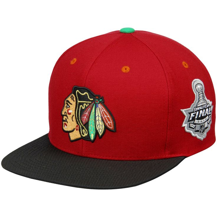 Chicago Blackhawks Mitchell & Ness Commemorative 2013 Stanley Cup Champions Snapback Adjustable Hat - Red/Black - $25.59
