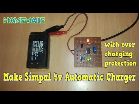 how to make 4v automatic battery charger at home - YouTube