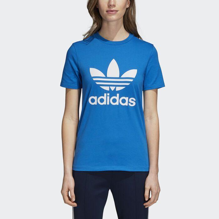 adidas Trefoil Tee - Blue | adidas US | Blue adidas, Workout ...