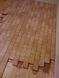 Diy End Grain Wood Floor Home Decor Diy Wood Floors