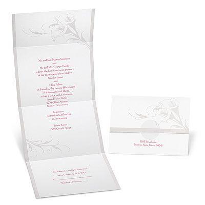 Calla Lily Seal and Send Wedding Invitation