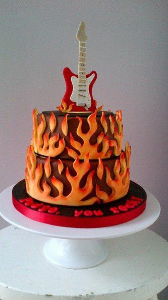 tolle-torten-hochzeit-geburtstag-musik-orange-gitarre