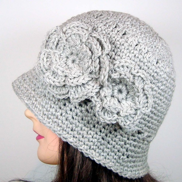 Ravelry: Cloche Hat with Two Flowers pattern by Acts of Knittery by ...