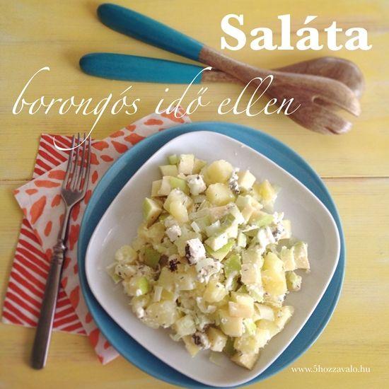 Hideg-meleg őszi saláta