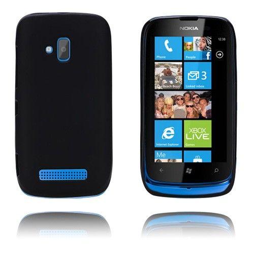 GelCase (Sort) Nokia Lumia 610 Deksel