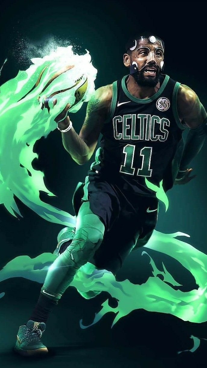 Kyrie Irving Wallpaper Boston Celtics Irving Wallpapers Kyrie Irving Celtics Basketball Art