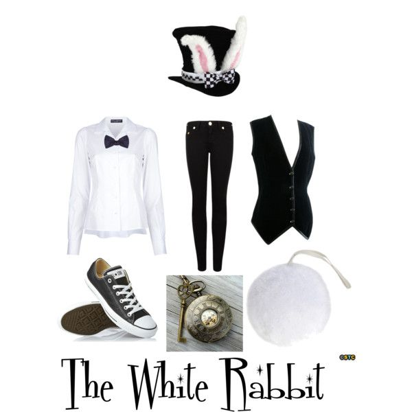 The White Rabbit Costume (FEMALE) by measishouldbe on Polyvore featuring Dolce&Gabbana, True Religion, Converse and Alexander McQueen