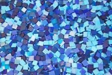 Mini Blue Mix Tumbled Stained Glass Mosaic Tiles Floral Vase Fillers