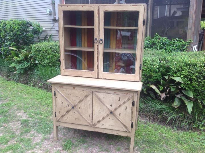 Check out this beautiful farmhouse hutch done by the DeStressing Divas! Check out our Facebook page for more great furniture transformations!