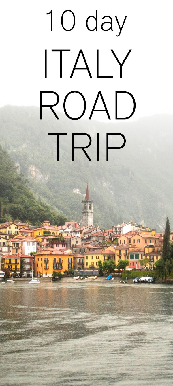travel italy road trips