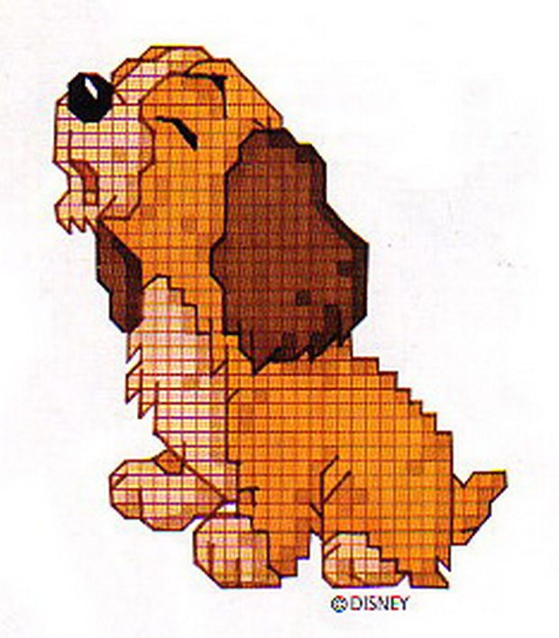 lady and the tramp free cross stitch pattern