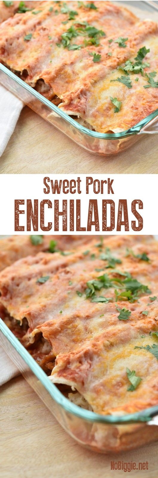 Crock Pot Sweet Pork Enchiladas | NoBiggie.net