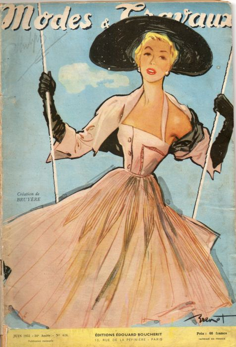French magazine cover, 1950's