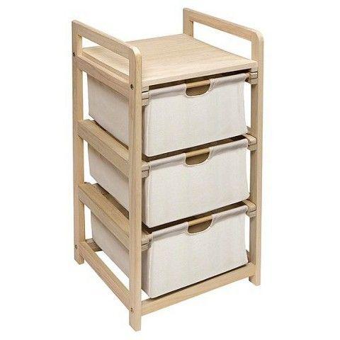 Badger Basket Hamper 3 Drawer Storage Unit - Natural