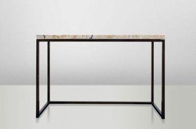 Casa Padrino Art Deco Beistelltisch Onyx / Metall 120 x 40 cm- Jugendstil Tisch - Möbel Konsole – Bild 7