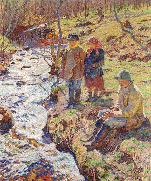 Богданов-Бельский Николай Петрович (1868–1945) Ловля форели.
