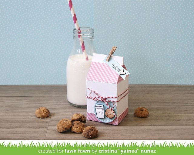 Milk carton gift box by Cristina Nuñez